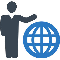 Global business intelligence icon